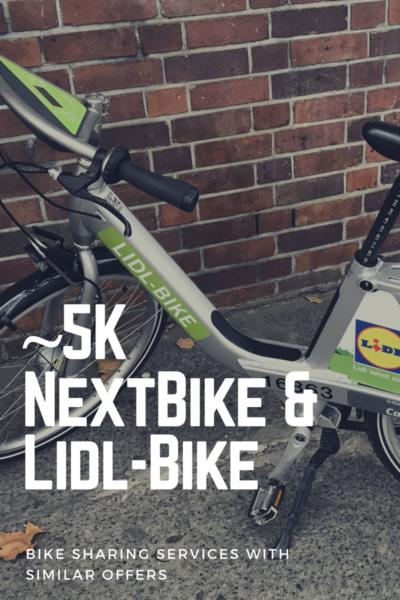 5000 bikes sharing from Nextbike and Lidl-Bike