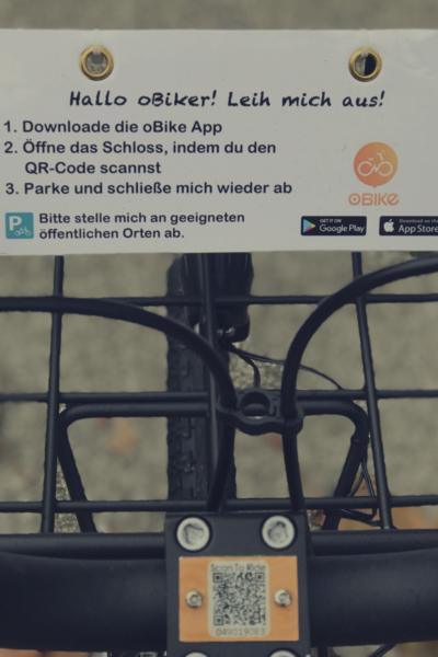 oBike Bike Sharing Instructions