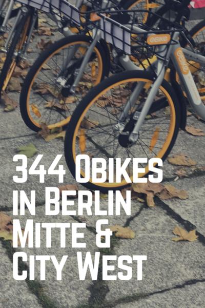 Bike Sharing oBikes in Berlin