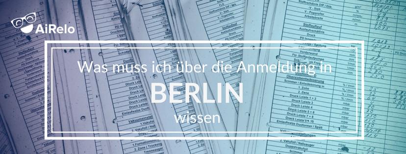 Anmeldung in Berlin